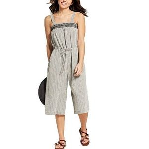 Universal Thread Striped Smocked Jumpsuit